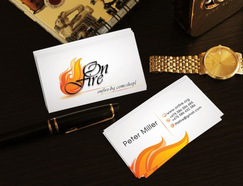 On Fire Business Cards